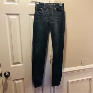 American Eagle straight super stretch 0 long
